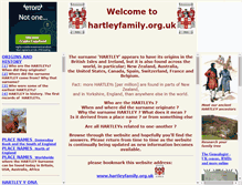 Tablet Preview of hartleyfamily.org.uk